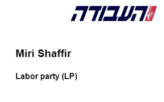 Miri Shaffir Labor party (LP)