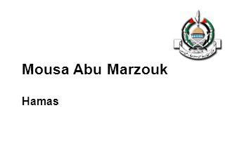 Mousa Abu Marzouk Hamas