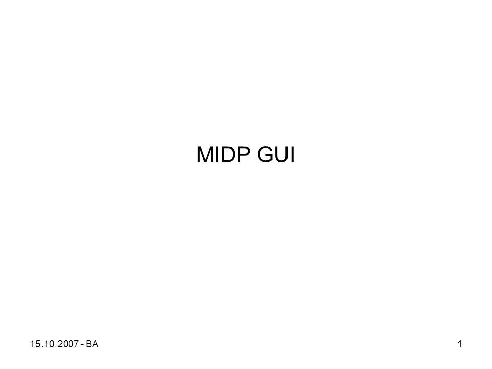 15.10.2007 - BA1 MIDP GUI