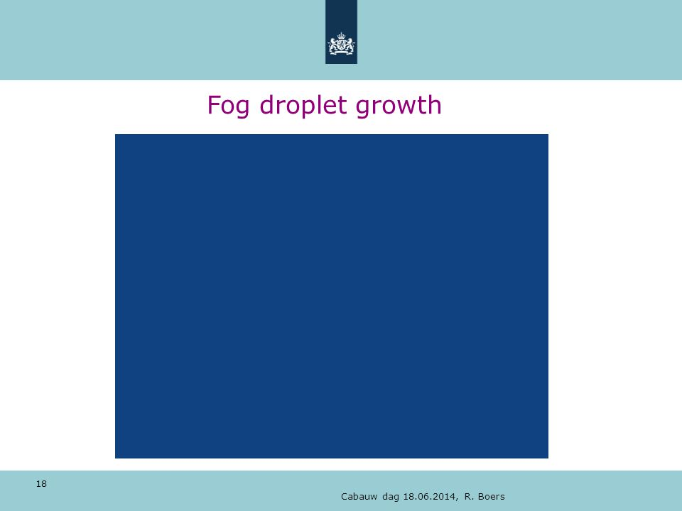 Cabauw dag 18.06.2014, R. Boers 18 Fog droplet growth