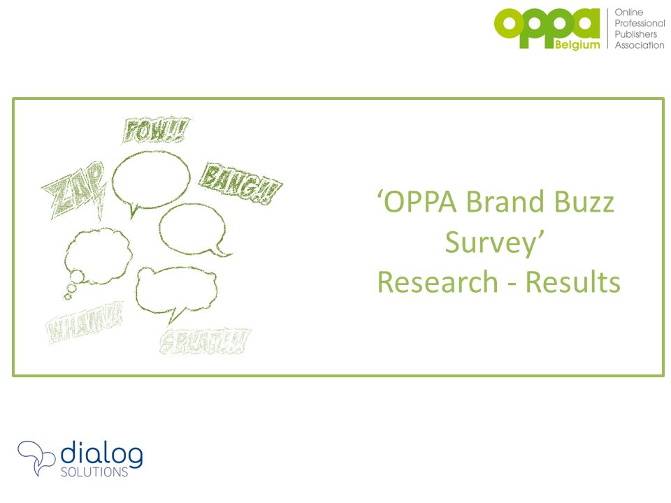 'OPPA Brand Buzz Survey' Research - Results