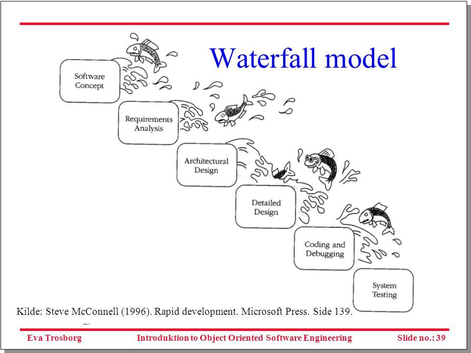 Eva TrosborgSlide no.: 39Introduktion to Object Oriented Software Engineering Kilde: Steve McConnell (1996).