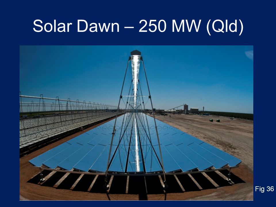 Solar Dawn – 250 MW (Qld) Fig 36