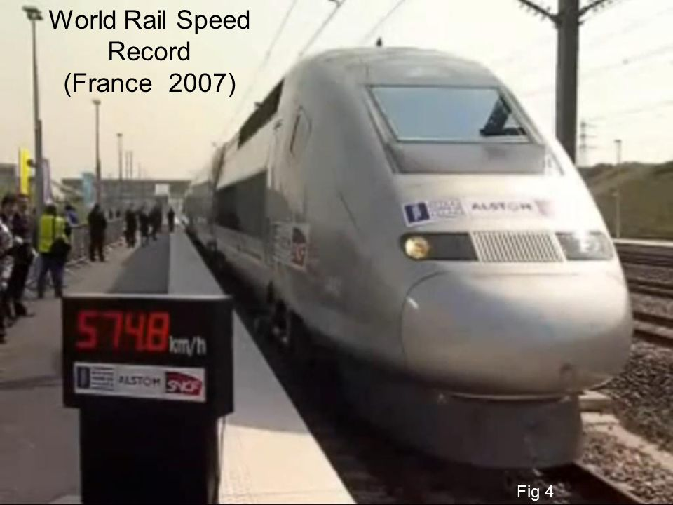 World Rail Speed Record (France 2007) Fig 4