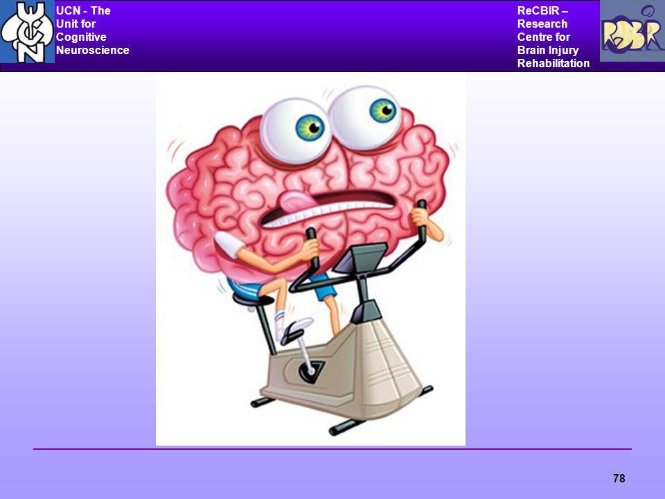 UCN - The Unit for Cognitive Neuroscience ReCBIR – Research Centre for Brain Injury Rehabilitation 78