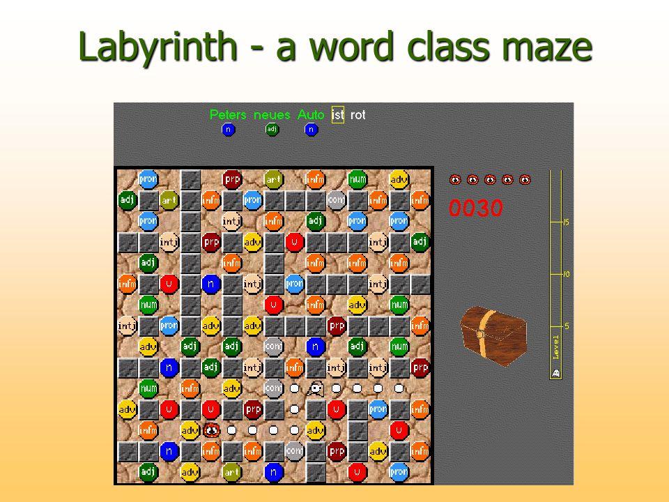 Labyrinth - a word class maze