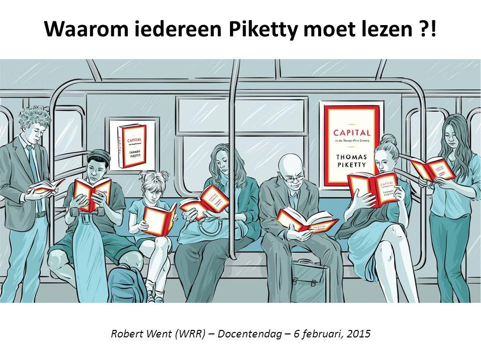 Waarom iedereen Piketty moet lezen ?! Robert Went (WRR) – Docentendag – 6 februari, 2015