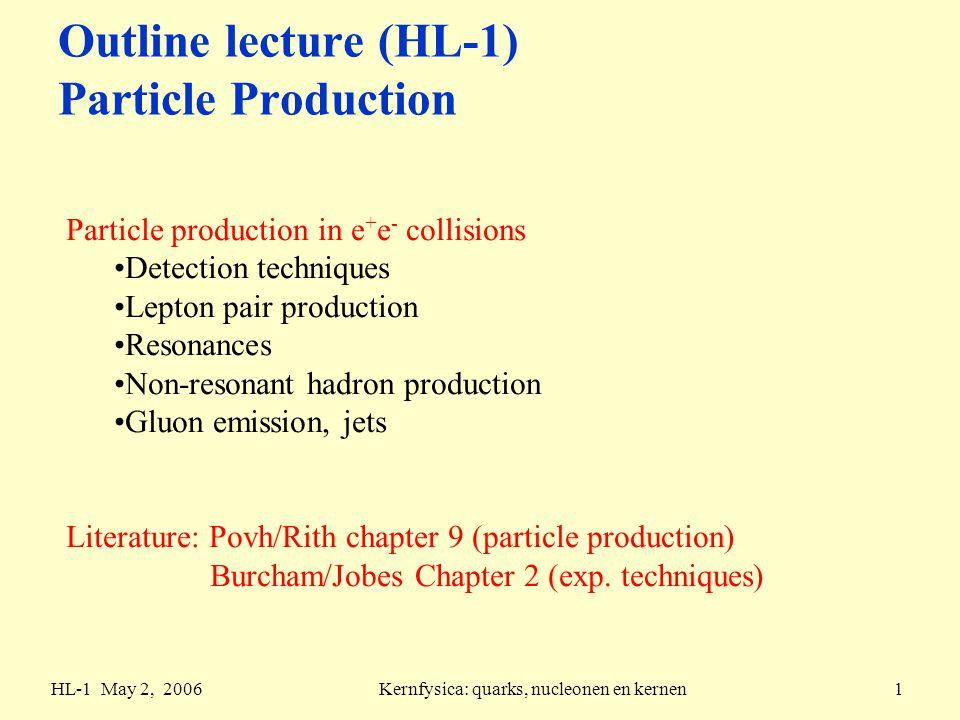 HL-1 May 2, 2006Kernfysica: quarks, nucleonen en kernen12 e + e - annihilation measurement lepton universality QED prediction