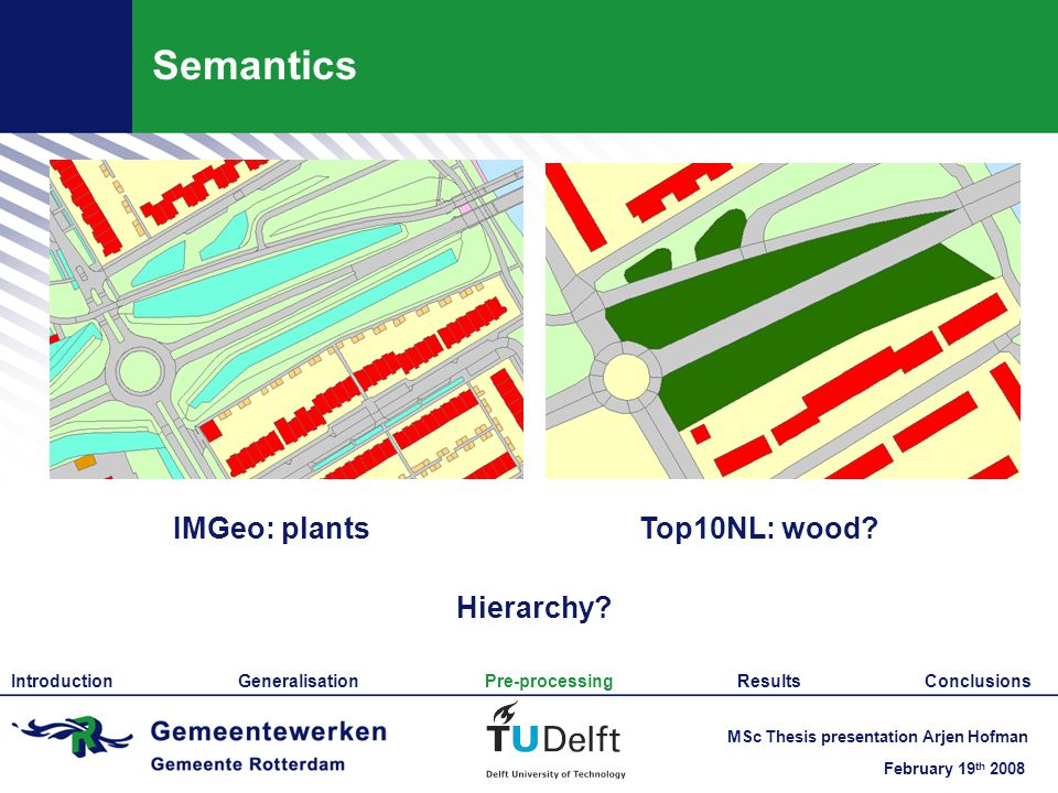 February 19 th 2008 MSc Thesis presentation Arjen Hofman Semantics IMGeo: plantsTop10NL: wood.