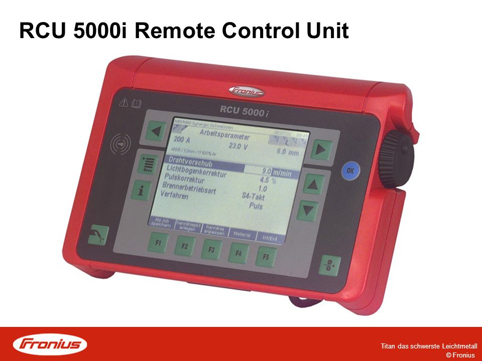 © Fronius RCU 5000i Remote Control Unit