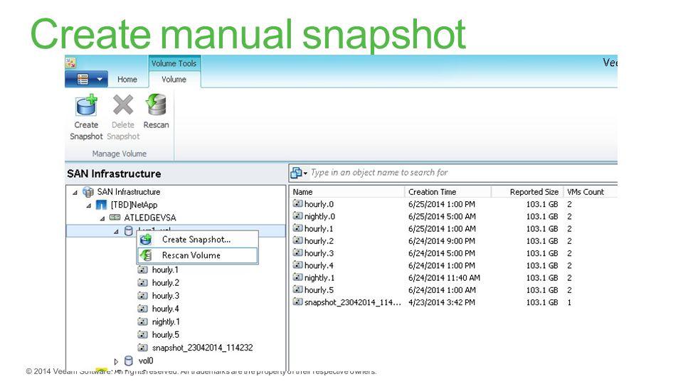 Create manual snapshot