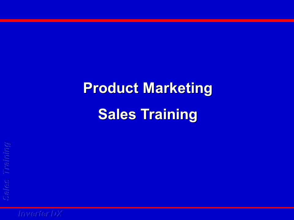 Product Marketing Sales Training