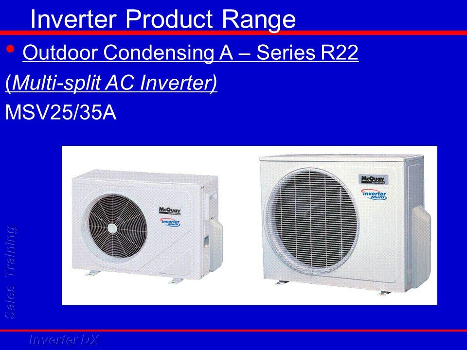 Inverter Product Range Outdoor Condensing A – Series R22 (Multi-split AC Inverter) MSV25/35A