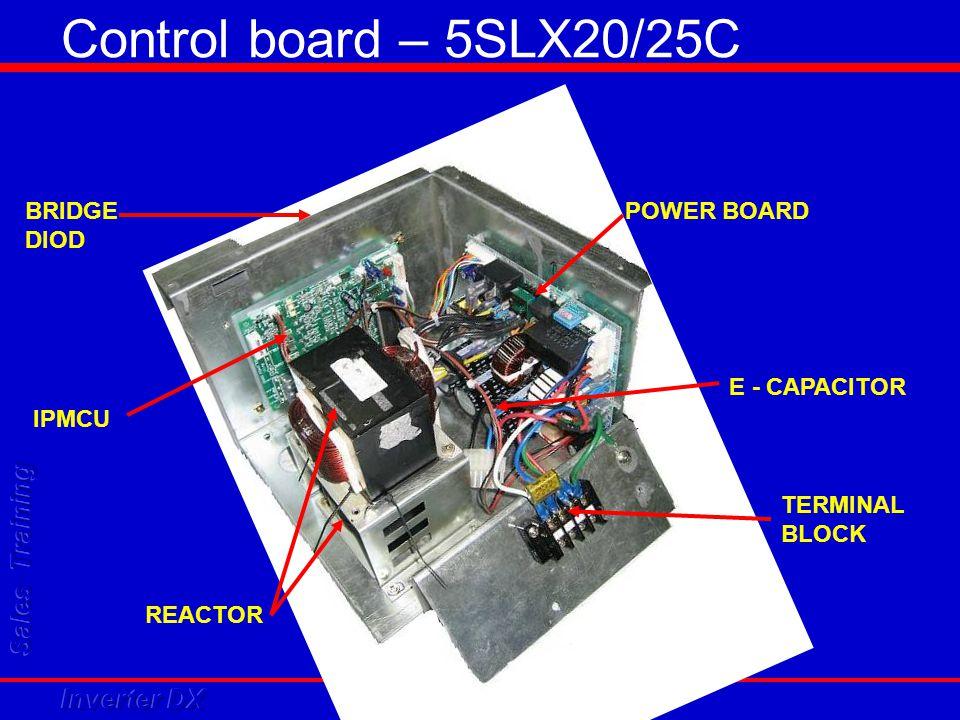 Control board – 5SLX20/25C IPMCU REACTOR POWER BOARD E - CAPACITOR TERMINAL BLOCK BRIDGE DIOD