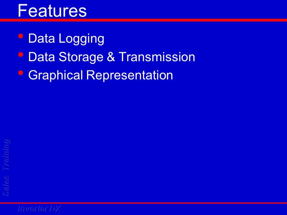 Features Data Logging Data Storage & Transmission Graphical Representation