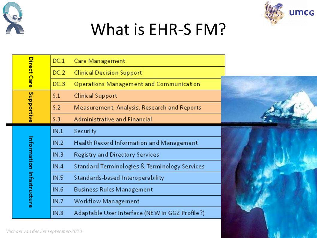 Michael van der Zel september-20109 What is EHR-S FM?