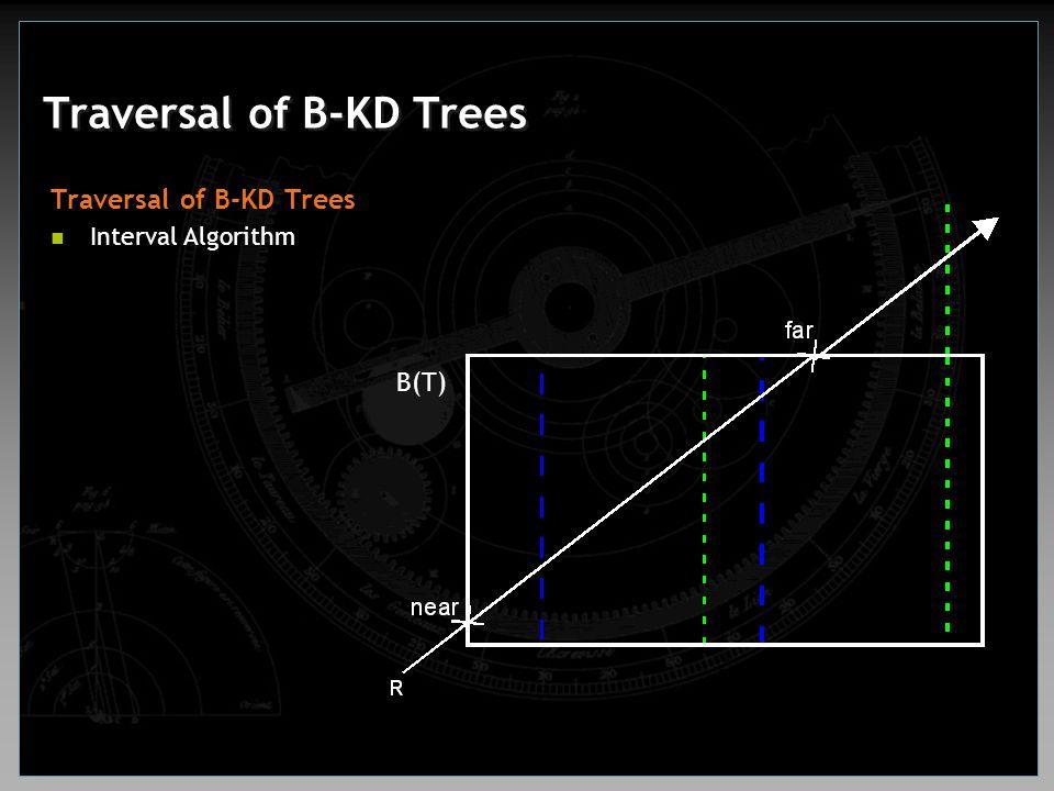 Traversal of B-KD Trees Interval Algorithm B(T)