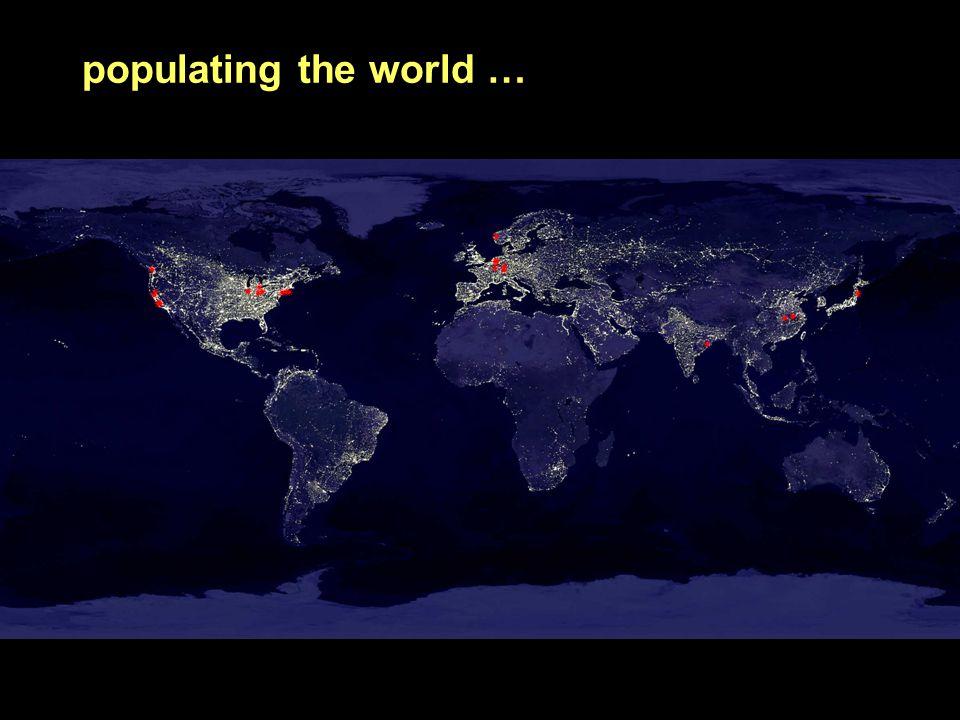 populating the world …