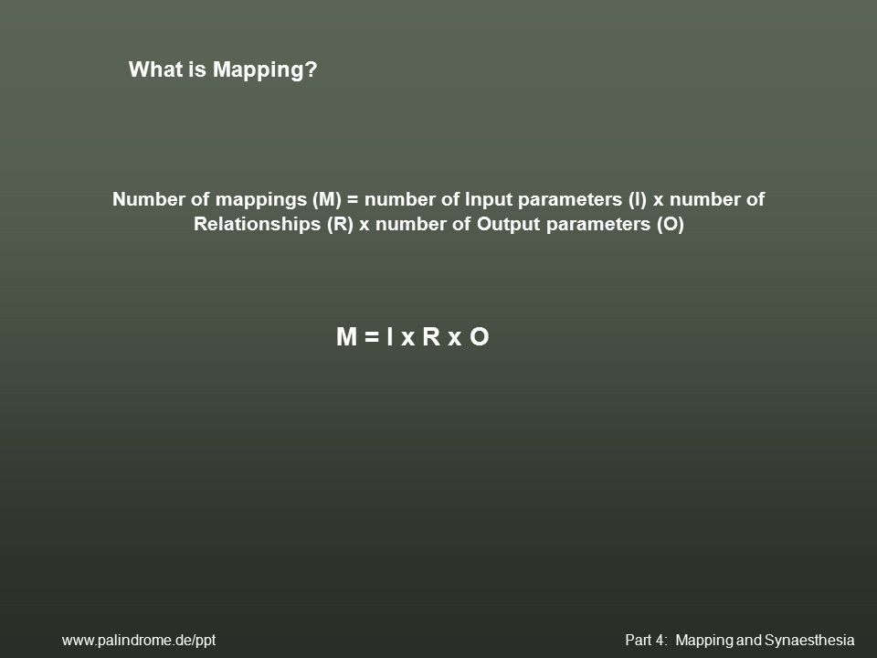 What is Mapping.