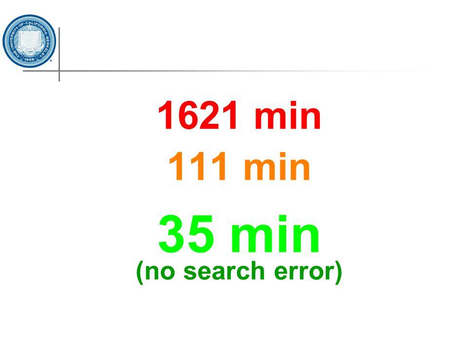1621 min 111 min 35 min (no search error)