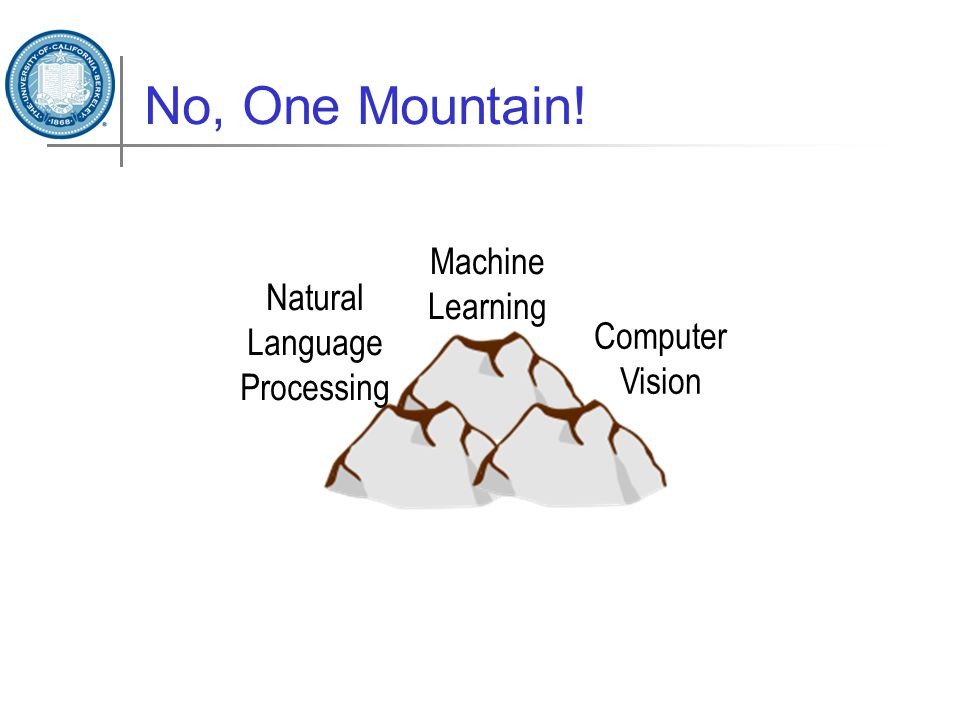 No, One Mountain! Machine Learning Computer Vision Natural Language Processing