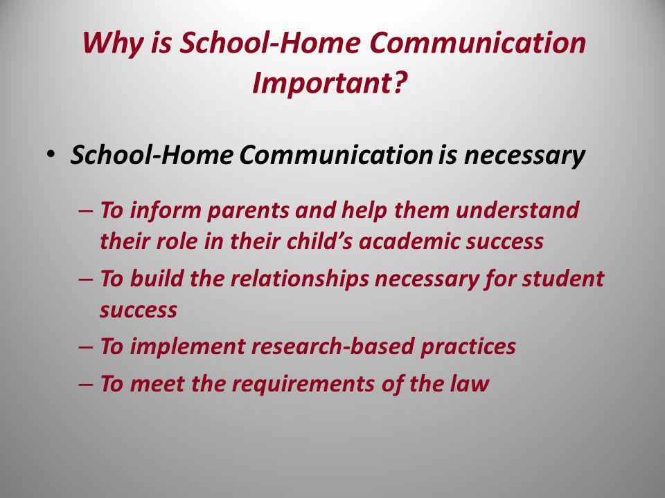 Improving School-Home Communication