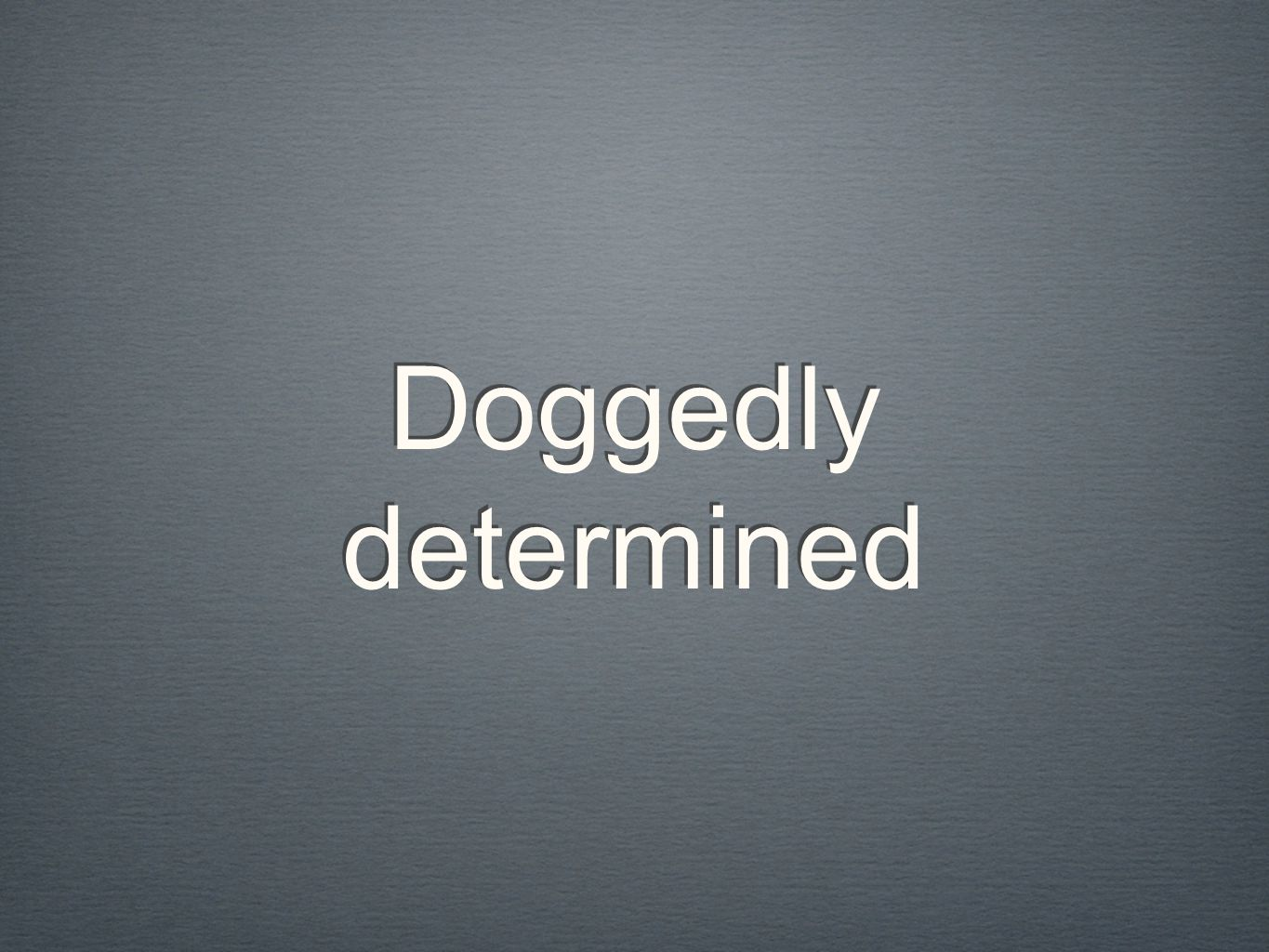 Doggedly determined Doggedly determined