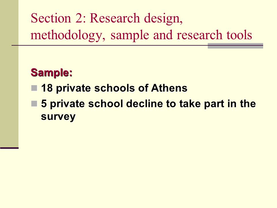 Section 3: Findings of the empirical research Parents´ Educational Background