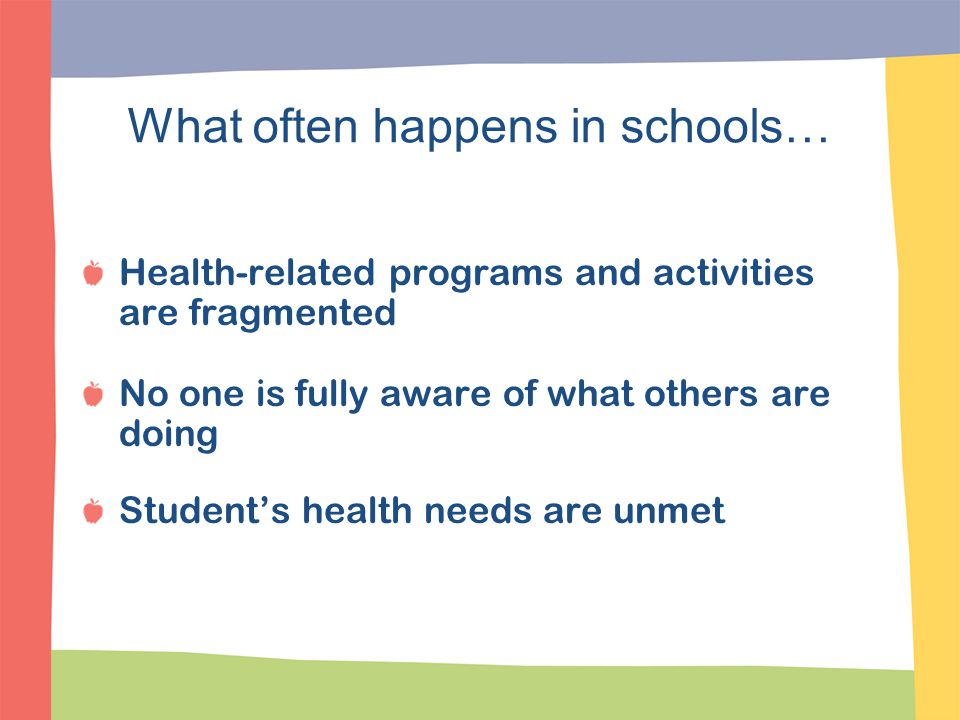 Coordinated School Health Programs The Good News.