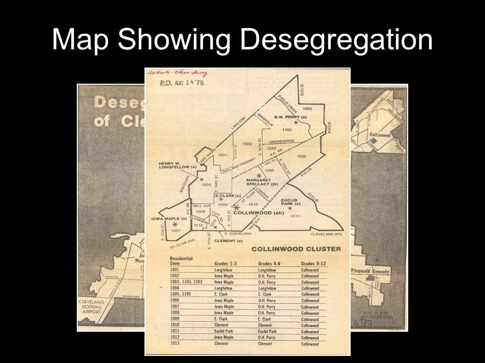 Map Showing Desegregation