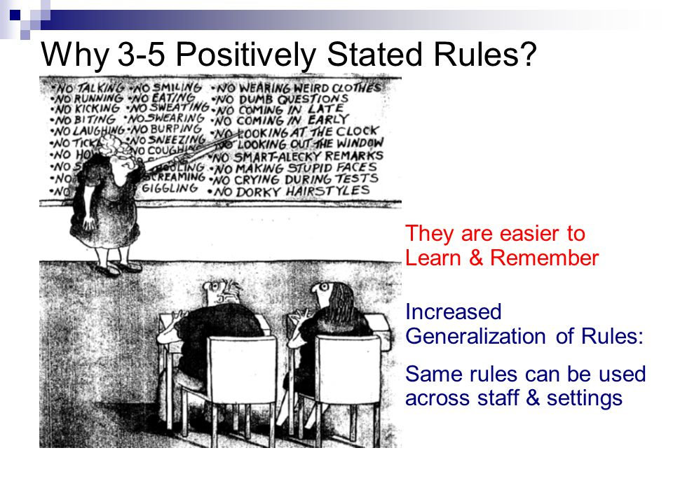 Why 3-5 Positively Stated Rules.