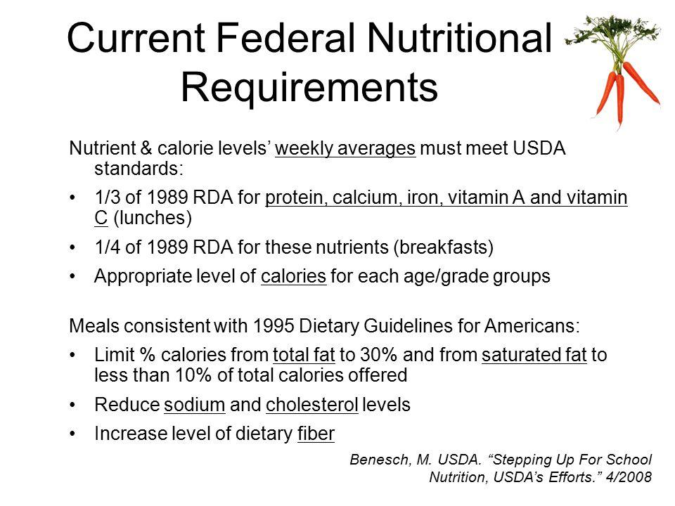 Schools Not Meeting Standards USDA. School Nutrition Dietary Assessment III. 11/2007