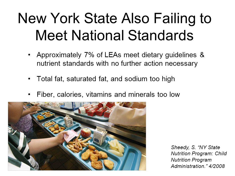 New York State Also Failing to Meet National Standards Sheedy, S.