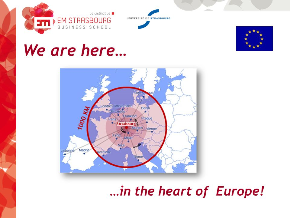We are here… …in the heart of Europe!