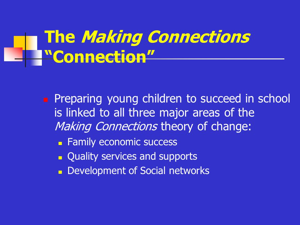 Links to Family Economic Success Sufficient family income is crucial to enable families to provide what children need for optimal early childhood development.