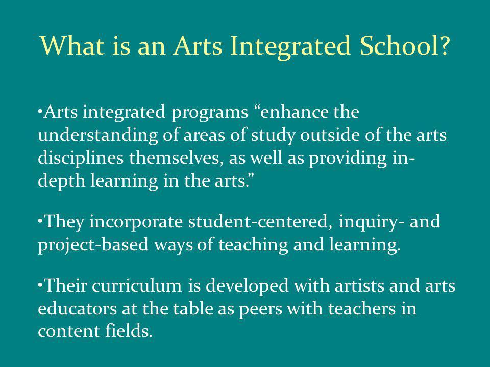 Why Arts Integration.