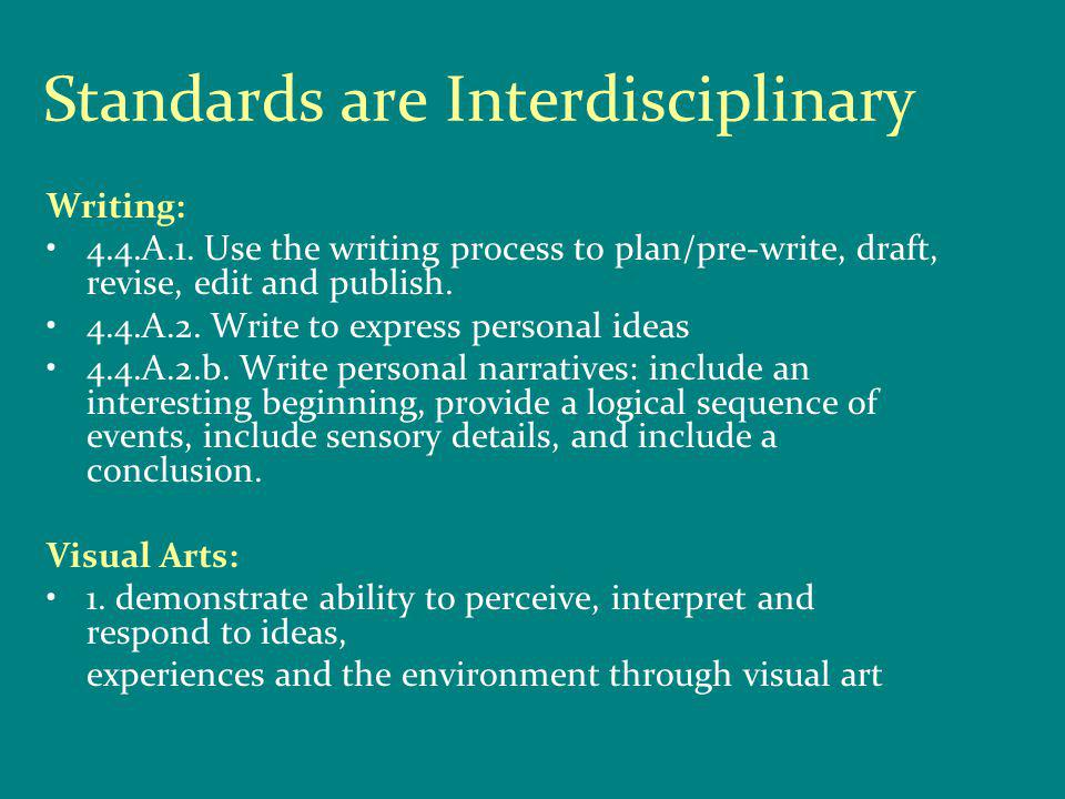 Selected Bibliography: Artful Teaching & Learning: Student Achievement throught the Arts Handbook.