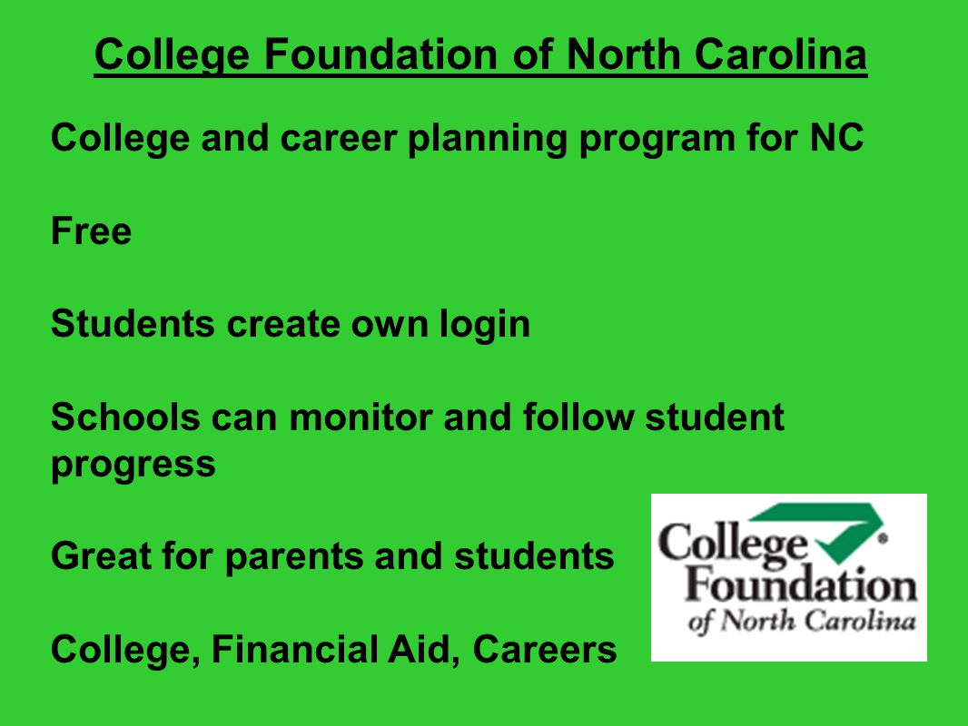 College and career planning program for NC Free Students create own login Schools can monitor and follow student progress Great for parents and studen