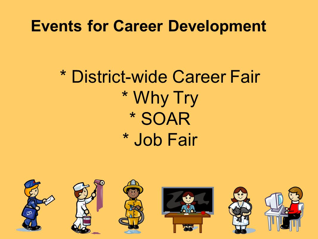 * District-wide Career Fair * Why Try * SOAR * Job Fair Events for Career Development