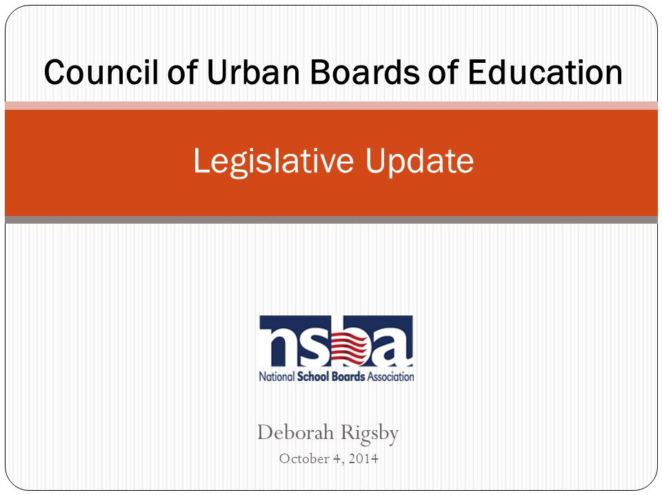 ESEA Reauthorization Most Comprehensive Federal Law Supporting Public Education Supplements State and Local K-12 Programs Enacted in 1965 and last reauthorized in January 2002 Was scheduled for reauthorization in 2008 Extended via congressional appropriations process