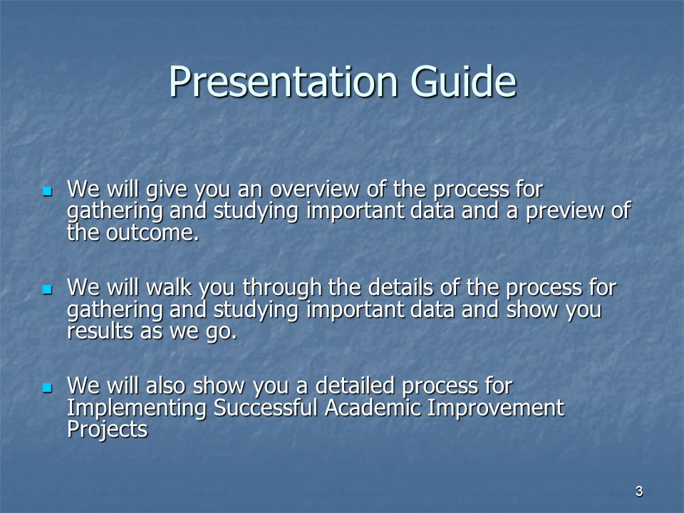 34 Implementing Successful Academic Improvement Projects ASQ Quality Tools Training H.