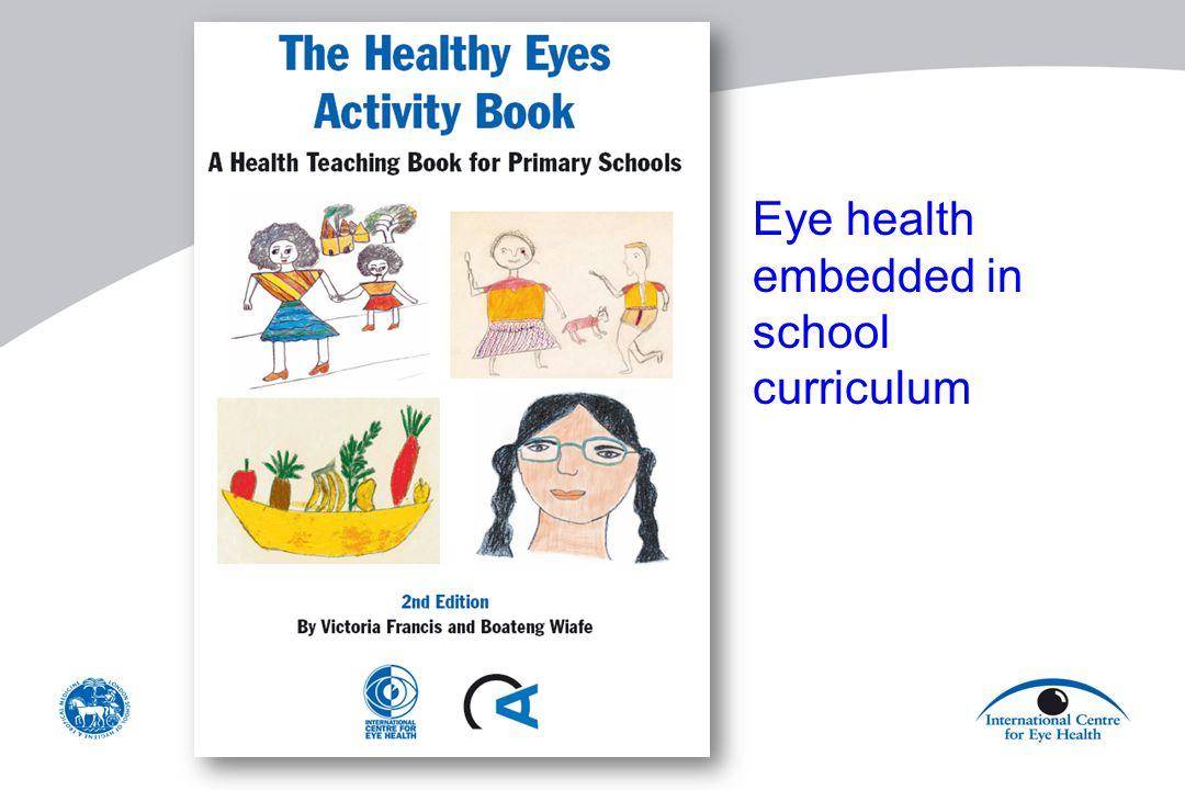 Eye health embedded in school curriculum