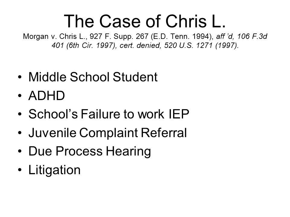 The Case of Chris L. Morgan v. Chris L., 927 F. Supp.