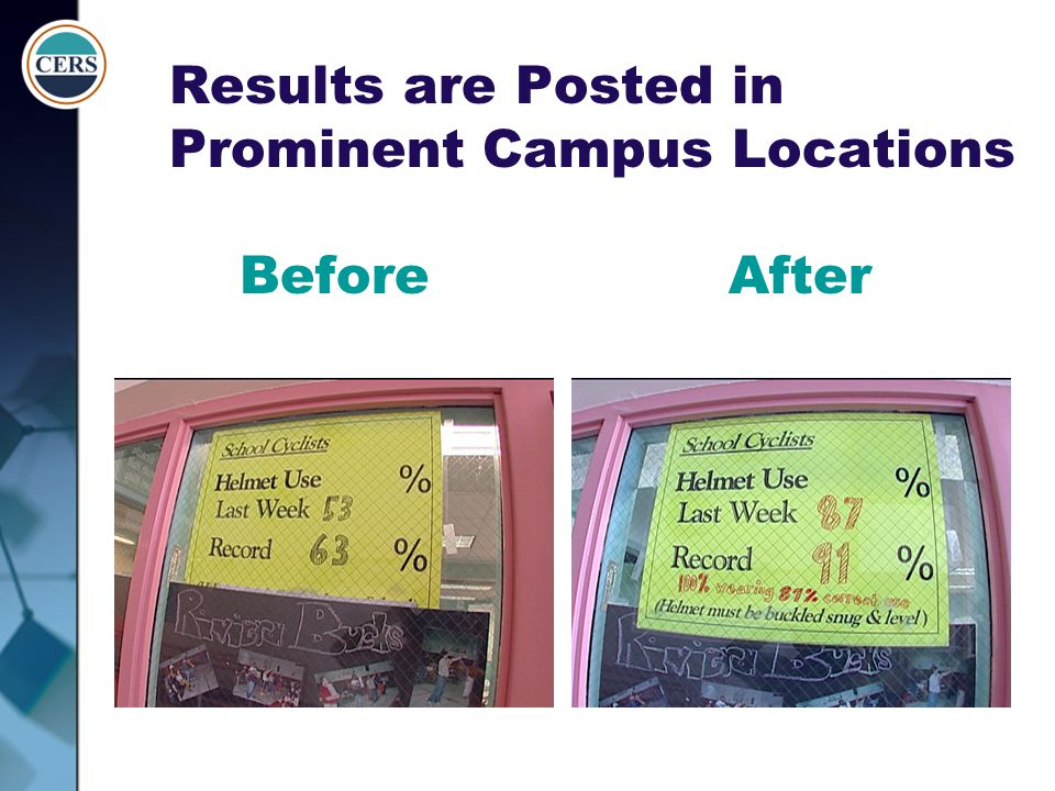 Results are Posted in Prominent Campus Locations Before After