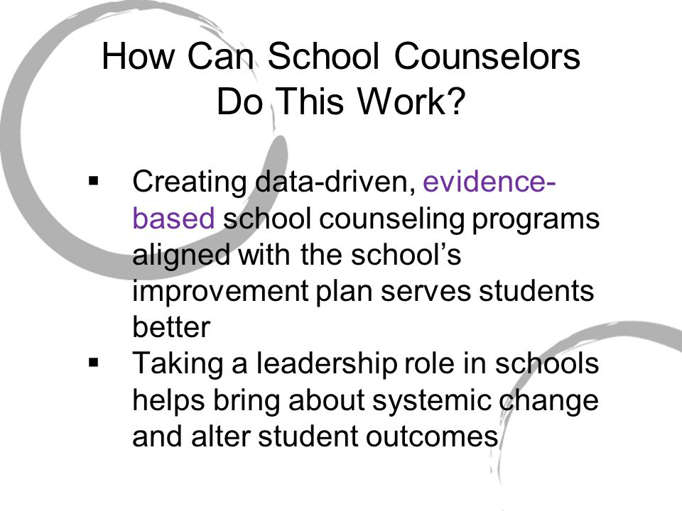 How Can School Counselors Do This Work.
