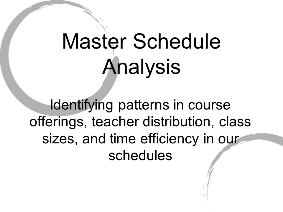 Master Schedule Analysis Identifying patterns in course offerings, teacher distribution, class sizes, and time efficiency in our schedules
