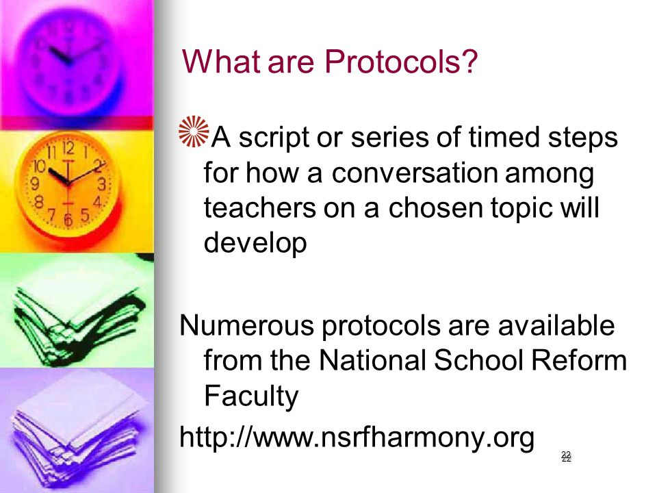 22 What are Protocols.