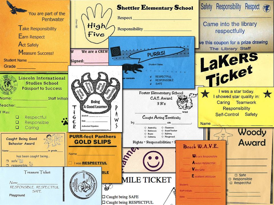 "Schoolwide ""quick"" acknowledgements Rewards that are quickly presented in the presence of the behavior"