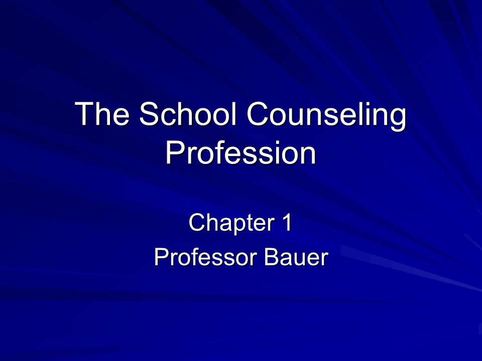 Important School Counseling Notables E.G.