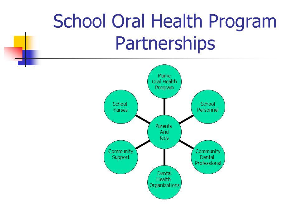 School Oral Health Program Partnerships Parents And Kids Maine Oral Health Program School Personnel Community Dental Professional Dental Health Organi